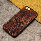 U&I Brand Thin Luxury Natural Wood Phone Case For Iphone 5 5S 6 6S 6Plus 6S Plus 7 7Plus Cover Wooden High Quality Shockproof
