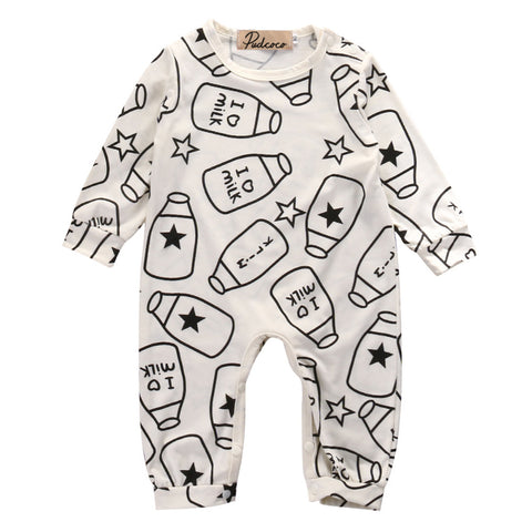 Newborn Baby Boys Girls Kids Clothes Bodysuit Jumpsuit Cotton Outfits Sets