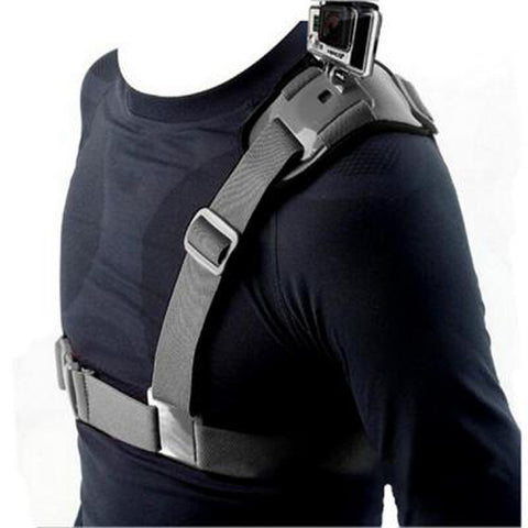 Adjustable Universal Single Shoulder Strap Grip Mount Chest Harness Belt Travel For GoPro Clip For Gopro Accessories