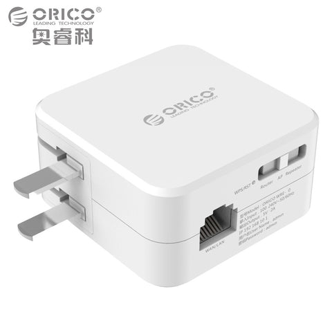 ORICO Universal Wireless Range Extender 300M WiFi Repeater with 5V2A USB Charging Port Blue Power Indicator