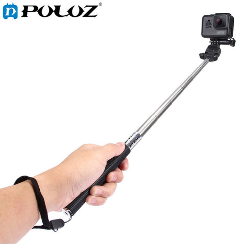 For Go Pro Accessories Extendable Handheld Selfie Stick Monopod for GoPro HERO5 HERO4 Session HERO 5 4 3+ 3 2 1 SJCAM SJ4000
