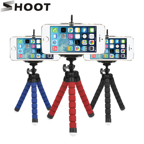 Flexible Octopus Tripod For Phone With Phone Clip Tripod for iPhone 6 7 6s 5s Dslr Gopro Yi 4K SJCAM Camera Stand Mount