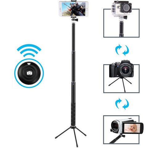 Uhuru Selfie Stick with Bluetooth Remote and Tripod Portable Waterproof Monopod for GoPro for iPhone for Samsung Series for DSLR