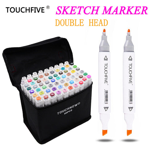 TOUCHFIVE 30/40/60/80 Colors Drawing Marker Design Artist Dual Head Sketch Markers Set For Manga Marker School Supplies stabilo