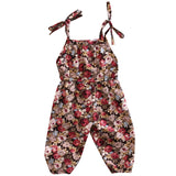 Summer Newborn Baby Kids Girl Infant Tank Sleeveless Floral Romper Jumpsuit Cotton Clothes Outfit Set