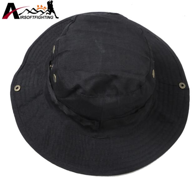 f74cfb4a Wide Brim Washable Boonie Hats Adjustable Camouflage Bucket Hats Outdoor  Hunting Fishing Foldable Sun UV Protection