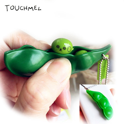 Fun Beans Squishy Toys Pendants Anti Stress Ball Squeeze Funny Gadgets