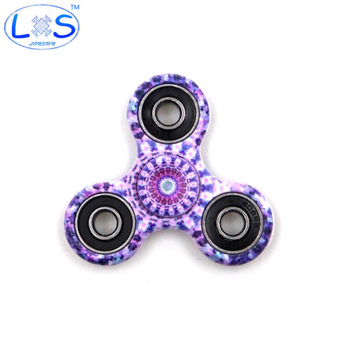 (LONSUN)Kaleidoscope color Creative Fidget Spinner ABS Plastic EDC Toys Hand Spinner Spinning Top Anti Stress Toys