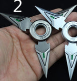 1pc GENJI Weapons Action Figure Cosplay GENJI Shurikens Darts Zinc Rotated Souvenir Alloy Collection Model Kids Gift Toys Game