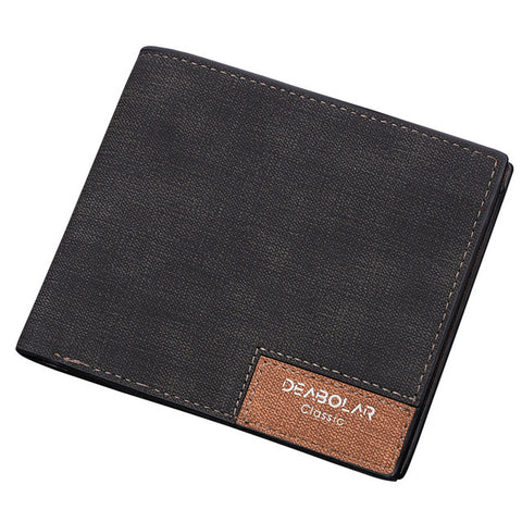 Hot Promotion!! DEABOLAR Brand 2017 Vintage Man Wallet Male Slim Leather Wallets Thin Money Dollar Card Holder Purses for Men