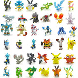 24pcs/set 2-3cm Pokeball Figures Cute Mini Pikachu Figures Monster Model Toys Random Brinquedos Collection Anime Kids Toys #E
