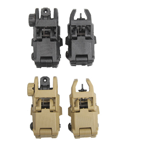 Tactical Military Folding Front Rear Sight Set Arms Gear GEN 1 Foldable Black fit for 20mm Rail Airsoft HT27-0003