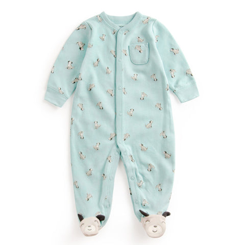 Baby Print dog dot Soft Cotton Rompers Newborn Baby Boy Girl Romper Clothes Jumpsuit Baby Roupa Infantil Menino Kid Set Sliders