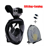 Gopro Diving Mask Full Face Spearfishing Mask Snorkel Scuba For Swimming Silicone Plastic Glasses Children/Adult Training Mask