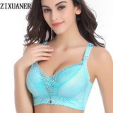 sexy lingerie Nursing Bras larger sizes for pregnant woman wire free lace push up Suckling Breastfeeding maternity bra cup C