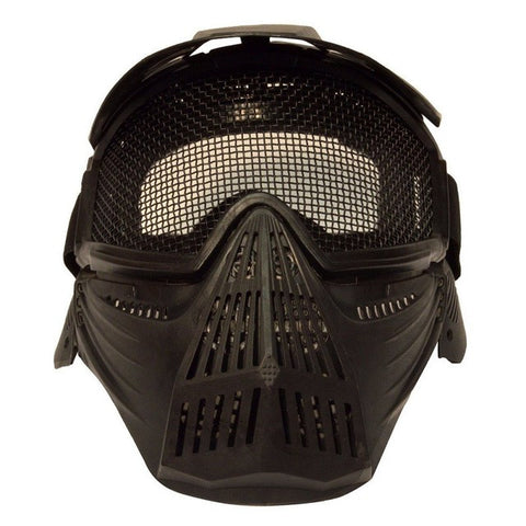 AIRSOFT & PAINTBALL SPORTS CS Pro Full Face Mask with Safety Metal Mesh Goggles Protection