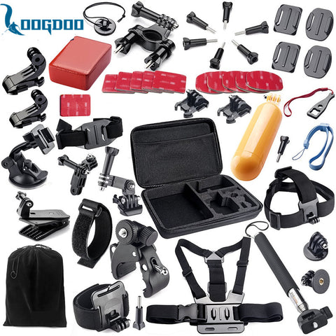LoogDoo for Gopro Hero 5 Accessories Set Helmet Strap Mount Suitable for Go pro Hero5  4 3+ SJ4000 SJCAM xiaomiyi 2 Camera TZ02