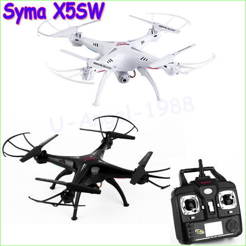 1pcs 100%  Syma X5SW 2.4G 50M RC Drone Quadcopter with 0.3MP Camera 6-Axis Real Time RC Helicopter Quadcopter Wholesale
