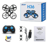 Mini Quadcopter With Headless Mode One Key Return Flying Rc Helicopter Toys JJRC H36 Brinquedos De Controle Remoto VS Drone H8