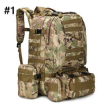 Unisex Outdoor MOLLE Webbings Backpack Vintage Military Tactical Backpacks Hiking Camping Camouflage Backpack Climbing Bags