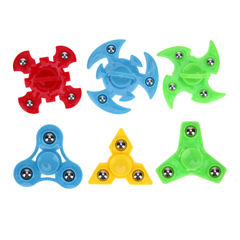 Random Delivery!Plastic Fidget Spinner Hand Spinner Fingertips Gyro Spinner Anti-Stress Decompression EDC Cube Toys for Children
