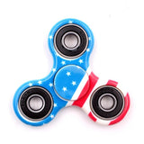 Hot Tri-Spinner Fidget Toy ABS Stress Wheel EDC Anti Stress Hand Spinner For Autism and antistress Multicolor 11 Style , spiner