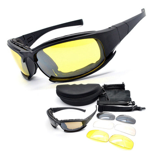 New Type Daisy X7 Desert Sun Glasses Tactical Goggles Outdoor Sports UV400 Eye Protective Riding Cycling Glasses