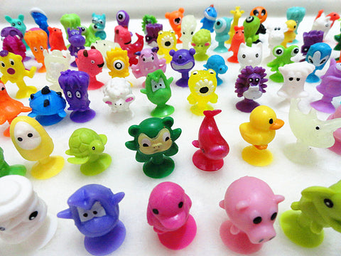 O for U Mini Sucker Dolls Marine Land Strange Animal Cupule Suckers kids Action Toy Capsule Model Suction Cup Puppets 50 Pcs/lot