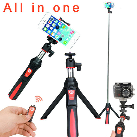 BENRO MK10 4 in 1 Extendable Bluetooth Remote Selfie Stick Monopod Mini Tripod Phone Stand Holder Mount for iPhone Android Gopro