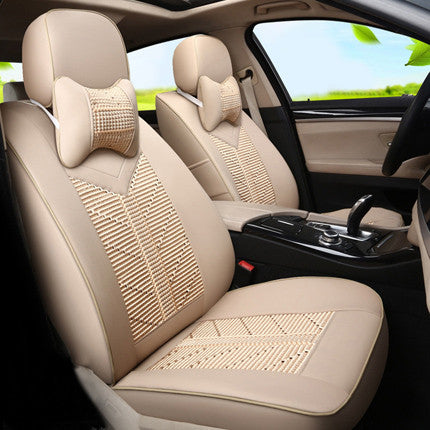 Custom Cover Seat Car Accessories For Nissan Patrol Set PU Leather Ice