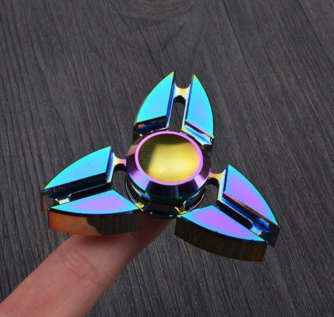 Red Copper Metal Tri Fidget Spinner Spring Toy Hand Spinners Anti Stress Toys Gift Man Finger Toys Tops