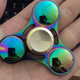 1 Pcs New 2017 new arrival Long Time Powerful Aluminum Fidget Spinner cube Flash Hand Finger Focus EDC Stress Toys
