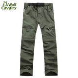 CavalryWalf Waterproof Detachable Hiking Pants Men Mountain Climbing Quick Dry Trousers Camping Trekking Outdoor Pants,AM001