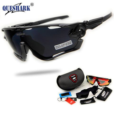 2017 Brand New Queshark Polarized Cycling Sunglasses Cycling Glasses For Bike Bicycle 3 Lens UV Protection
