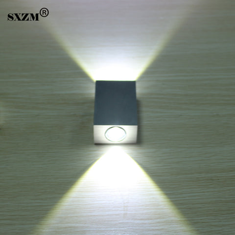 SXZM Modern 2W 6W led wall light AC85-265V high quality restroom bedroom reading wall lamp decoration light