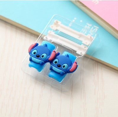 Cute Cartoon Cable Protector de cabo USB Cable Winder For IPhone 5 5s 6 6s 7 7s plus cable Protect stitch devanadera Cover Case