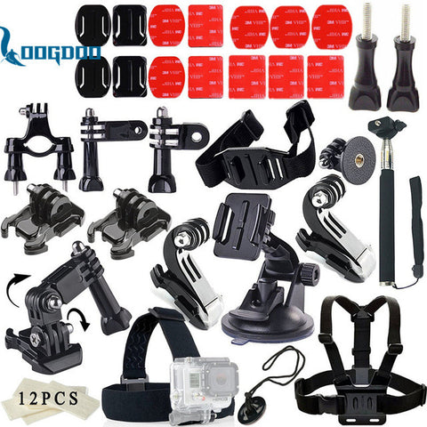 LoogDoo For Gopro Hero 5 Accessories Set  J-Hook Buckle Mount  Suitable For Go pro Hero5 4 3 SJ4000 SJCAM xiaomiyi Camera TZ11
