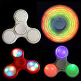 1Pc Fashion 3 LED Lighting EDC Children Adult Finger Spinner Autism & ADHD Focusing Toy Stress Spinner Best Puzzles Gifts PP