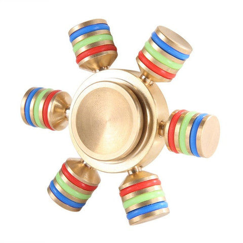 High Quality Six Corner Hand Spinner EDC High Speed  Spinner Aluminium Alloy For Autism and ADHD Finger  Spinner AHDH Stress Toy