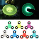 HOT Lighting White Fidget Toy ABS Plastic EDC Hand Spinner For Autism and ADHD Rotation Long Time Stress Relief Toy 7 Colors