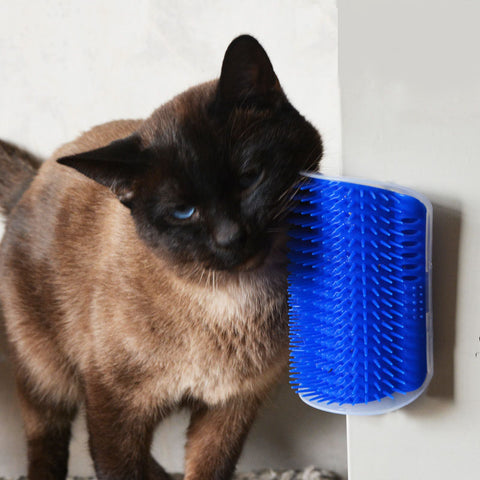 KIMHOME Pet Products For Cats Brush Corner Cat Massage Self Groomer Comb Brush With Catnip Wholesale