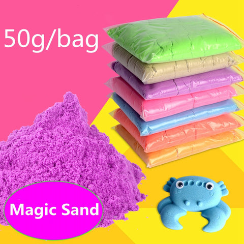 DoDoLu 50G/bag 2017 Hot Sale Dynamic Educational Amazing No-mess Indoor Magic Play Sand Children Toys Mars Space Magic Sand Toys