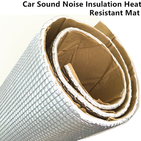 "10cmx100cm 4""x40"" Acoustic Sound Damping Aluminum Foil Automotive Firewall Sound Deadener Heat Insulation Deadening Material Mat"