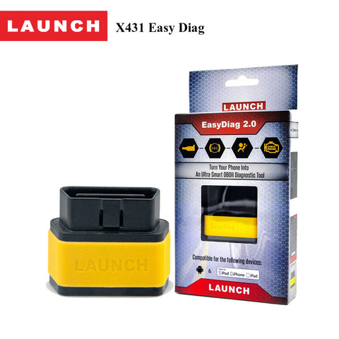 Launch Automotive Obdii Code Reader Easydiag 2.0 plus Bluetooth Diagnostic Scanner Instrument for Engine, ABS, SRS, Transmission