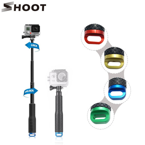 SHOOT 19-49cm Portable for Gopro Selfie Stick Extend Monopod For Gopro Hero 5 4 HERO5 Session Xiaomi yi 4K SJCAM SJ4000 Eken h9