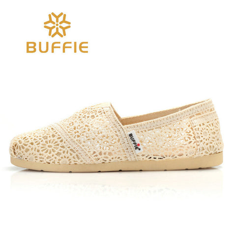 Women's Shoes Slip On Flats Shoe Buffie Brand style Hollow out Summer Lady Casual Shoe spring Breathable shoe AUTUMN wear sandal