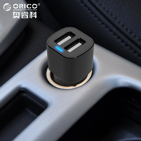 ORICO 3.4A Dual Port USB Car Charger Mini Universal Fast Smart Car-Charger For Apple iPhone 7 LG Samsung Xiaomi &More Phone PC