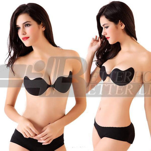 Sexy woman Push Up Self-Adhesive Silicone Bust Front Closure Strapless Invisible bra 2017 Hot Sale