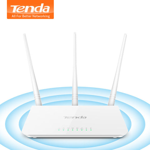 Tenda F3 300Mbps Wireless WiFi Router Wi-Fi Repeater,Wireless AP,BROADCOM Chip, Perfect WiFi Router for Small & Medium House