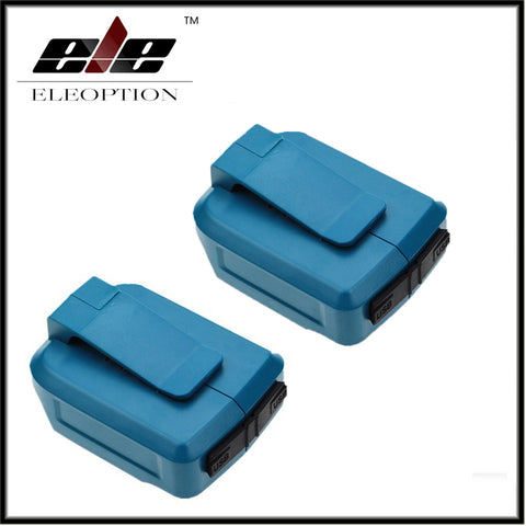 2 pcs 2USB Ports Charger Adapter for Makita Li-ion Battery BL1430 BL1815 BL1830 BL1845